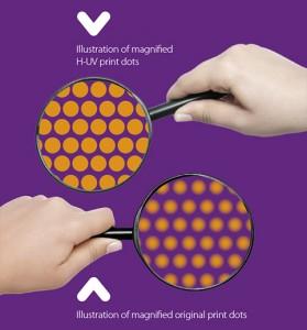 HUV (H-UV) impression de haute qualité